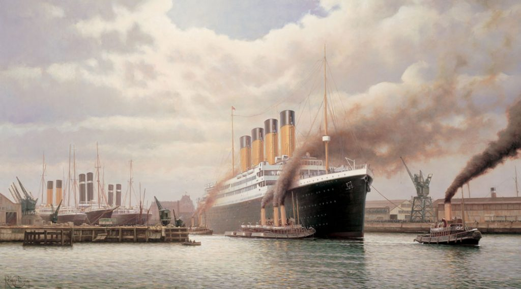 Titanic Leaving Southampton Docks, 1912